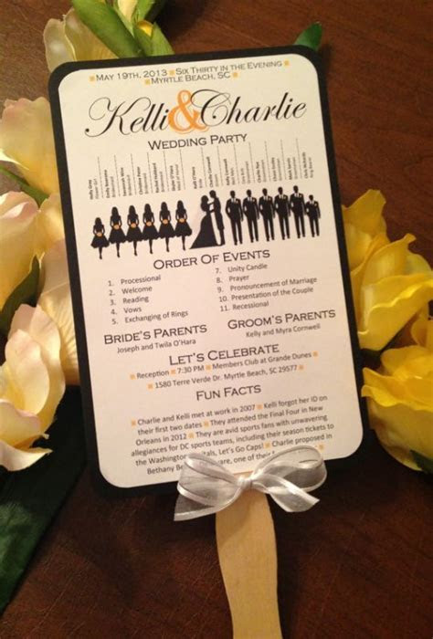 A Round Up of Free Wedding Fan Programs!   B. Lovely Events