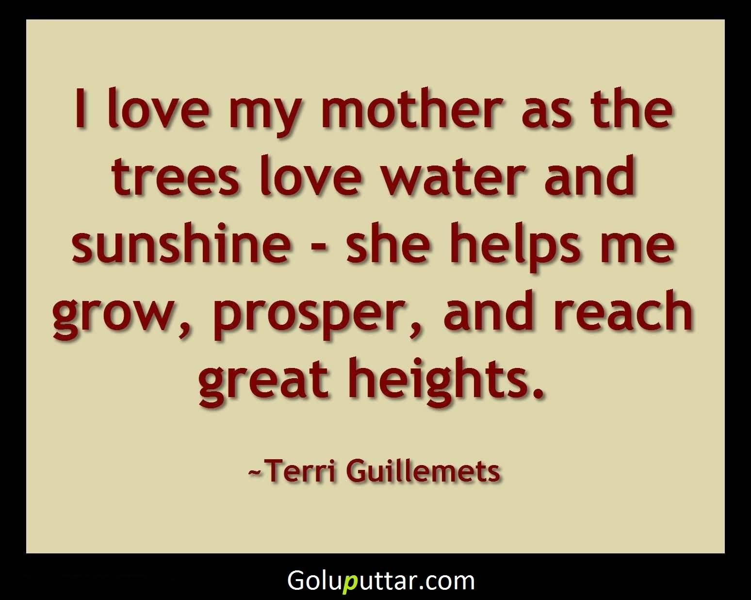 Amazing Mother Quote I Love My Mom So Much