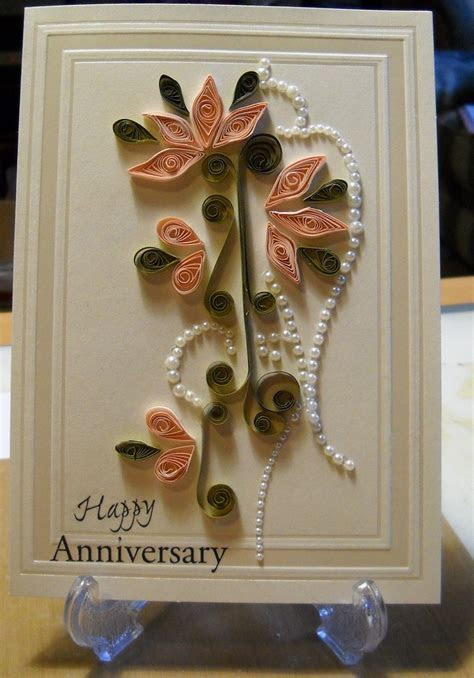 17 Best images about Quilled Anniversary Card on Pinterest