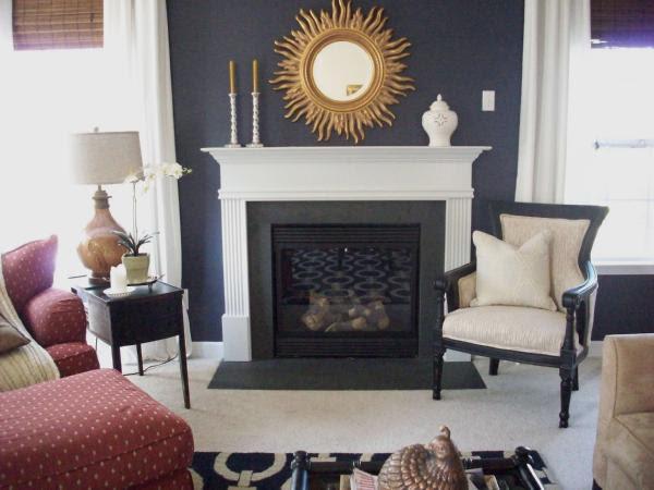 Blue Walls - Transitional - living room - Benjamin Moore Stunning ...