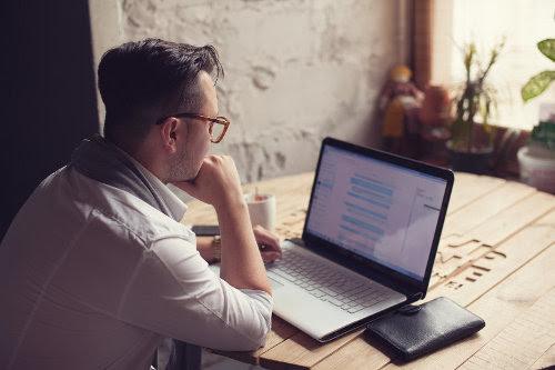 Busy entrepreneur solving problems