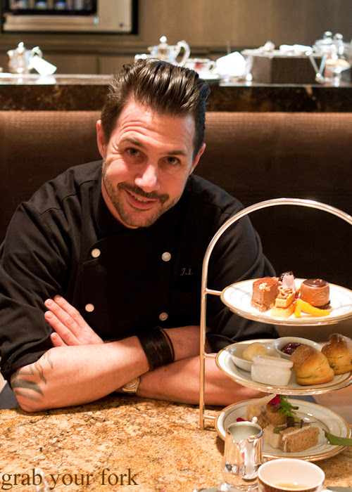Johnny Iuzzini with his afternoon tea at The Langham Hotel for the Melbourne Food and Wine Festival 2014