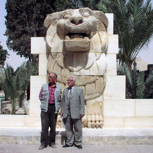 Michal Gawlikowski and Khaled al-Asaad