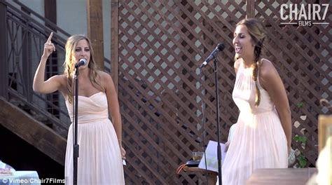 wedding toast   sisters sing  medley