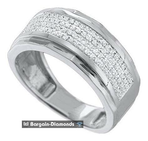 Mens Wedding Band Gold With Diamonds