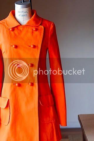 vintage orange coat jacket
