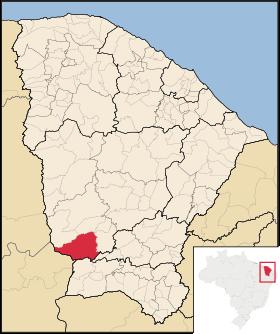 Localização de Aiuaba