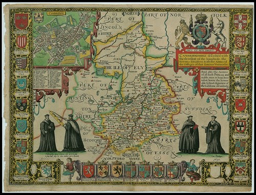 Cambridgeshire, England - John Speed proof maps 1605-1610