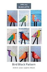 Bird Block Pattern Cover