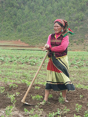 A Mosuo woman near Lugu Lake.