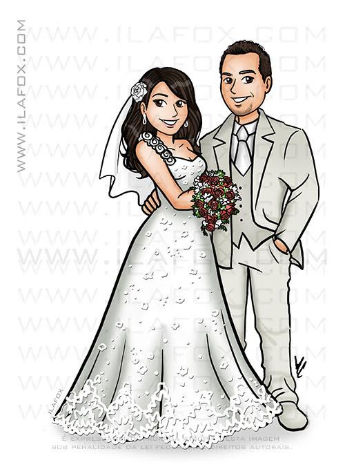 caricatura noivos, caricatura personalizada, caricatura sem exagero, caricatura bonita, by ila fox