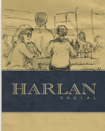 Sketch on the menu, Harlan Social, Stamford, Connecticut