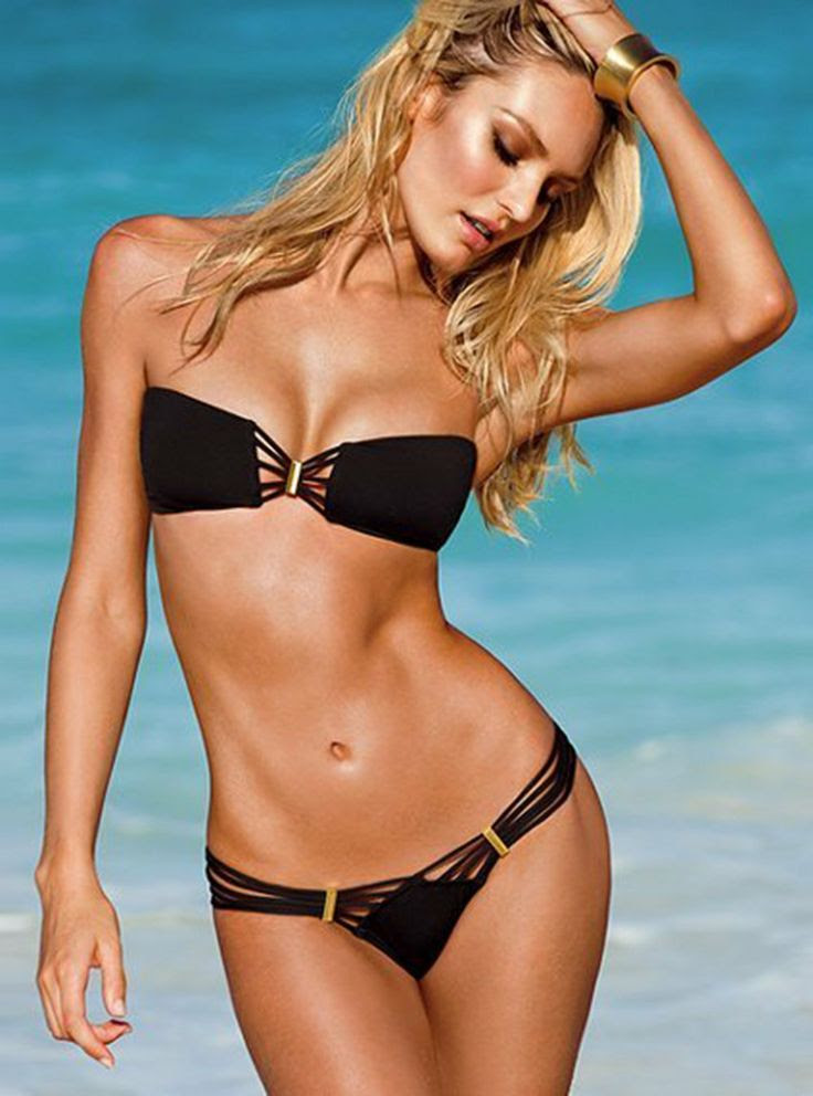 Popular Fashion Strappy Bandeau Top Brazilian Strapless Bikini Set Detachable: Sports & Outdoors