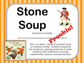 Stone Soup Sentences Scramble