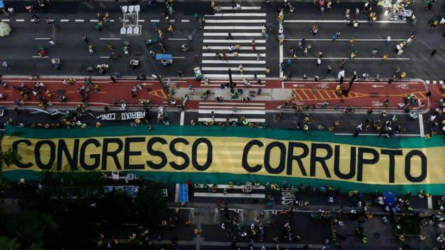 Protesto contra a corrupção em São Paulo, em dezembro de 2016