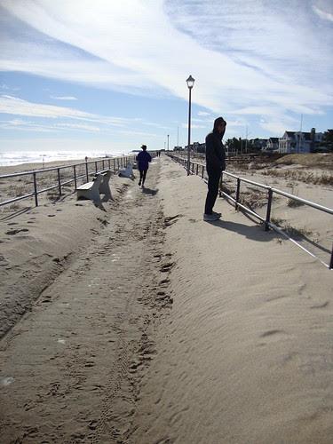 sandy pile up at Sea Girt