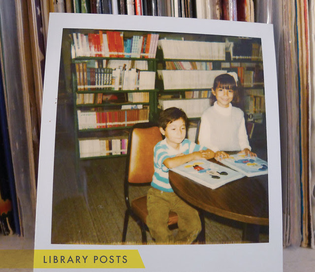 1988 // Mi BFF and I at the library