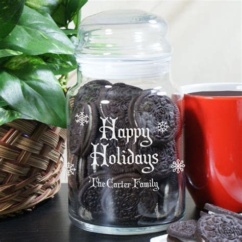 Personalized Christmas Holiday Cookie Jars