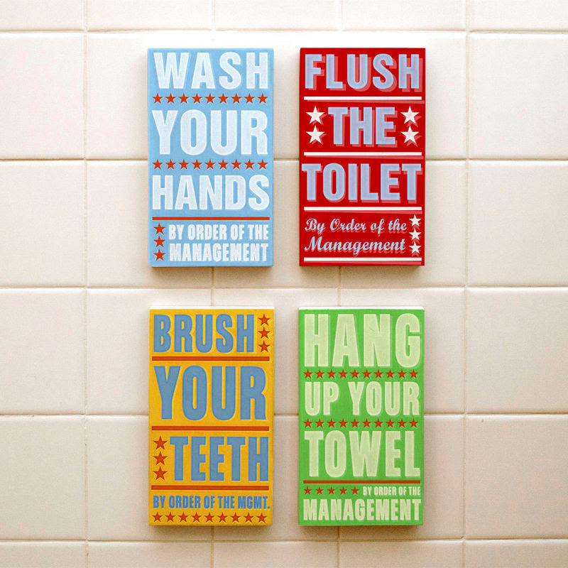 Ready To Hang Bathroom Art Bathroom Decor Set Of 4 By Order Of The