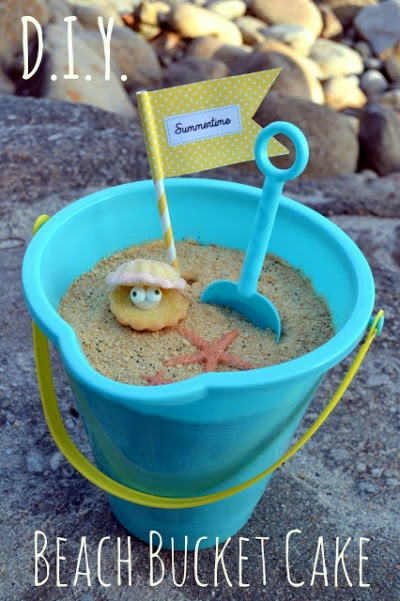 cake in a bucket easy summer party cake diy