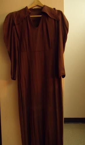 1930s crepe dress