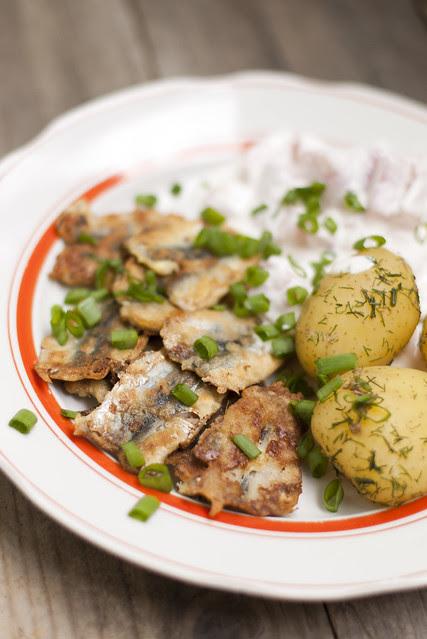 Värske kartul ja praetud silk / Potatoes and fried sprats