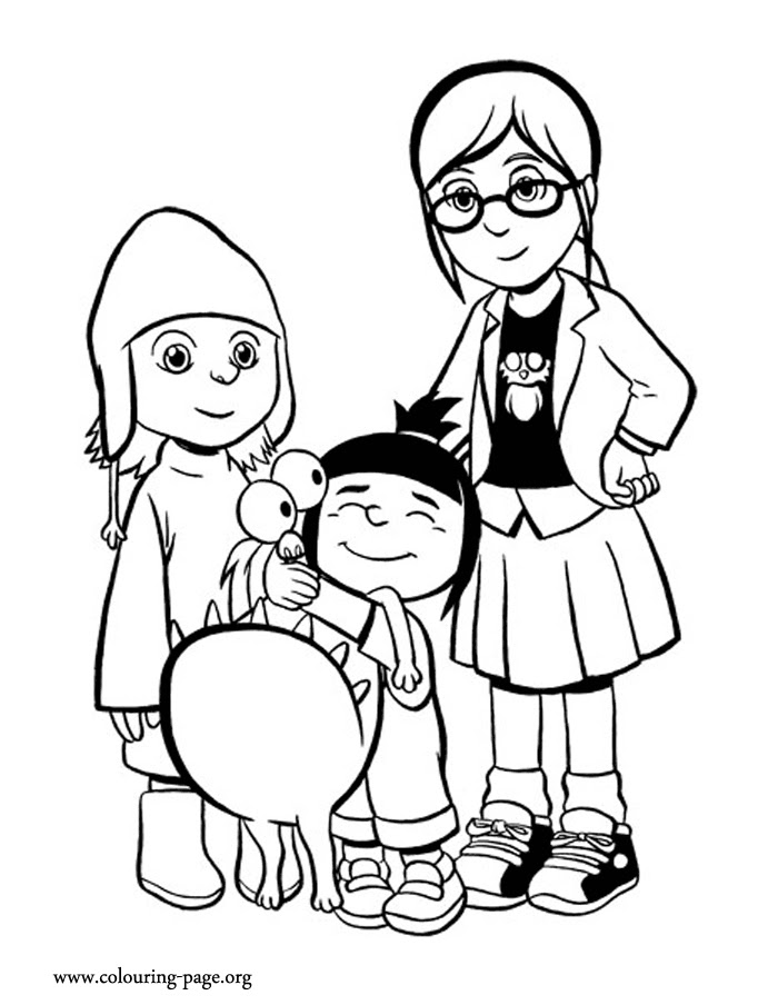 Gru Coloring Pages At Getdrawingscom Free For Personal Use Gru