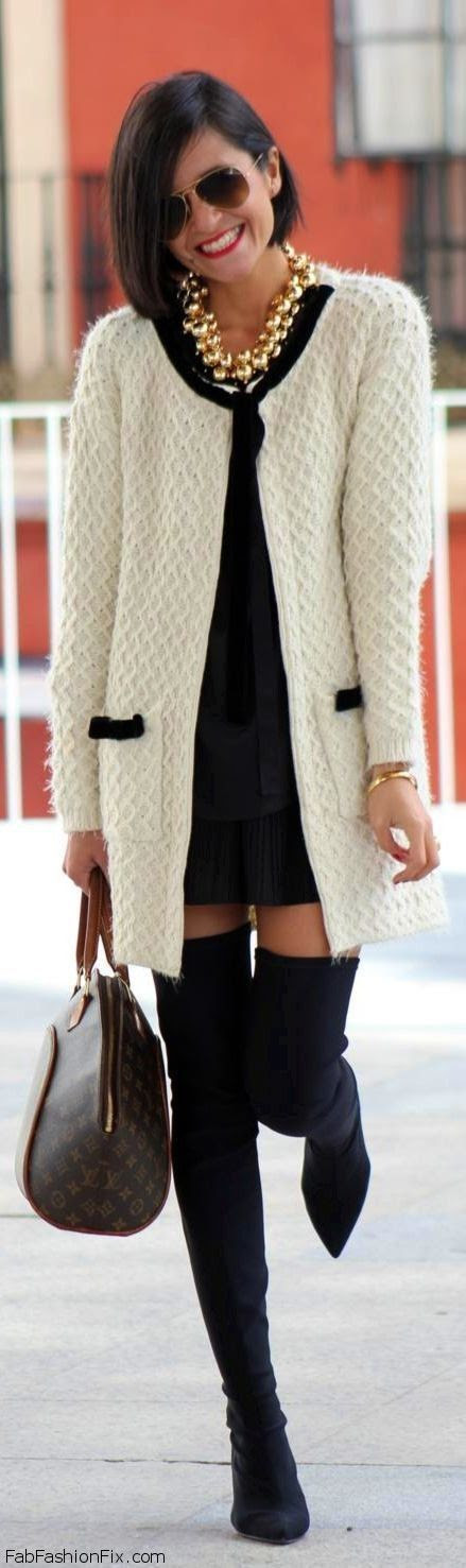 FabFashionFix - Fabulous Fashion Fix   Style Guide: How to wear over-the-knee boots this winter?