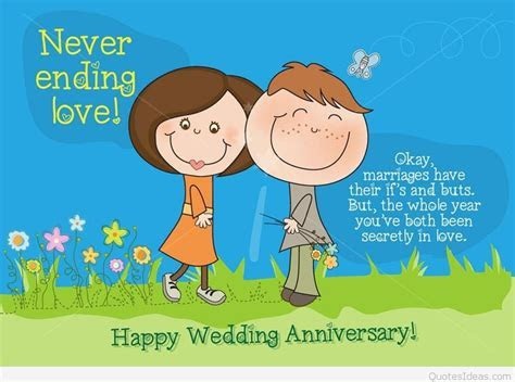 Awesome cartoon Happy anniversary quote