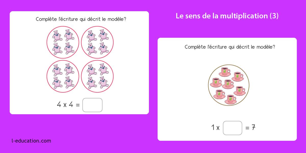 La Multiplication Jeux Leçons Et Exercices De Multiplication