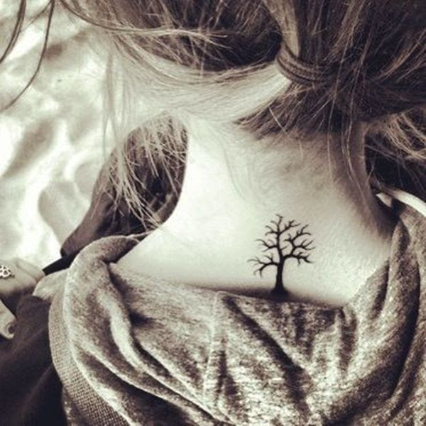 Awesome Tree Tattoo On Neck Tattoomagz