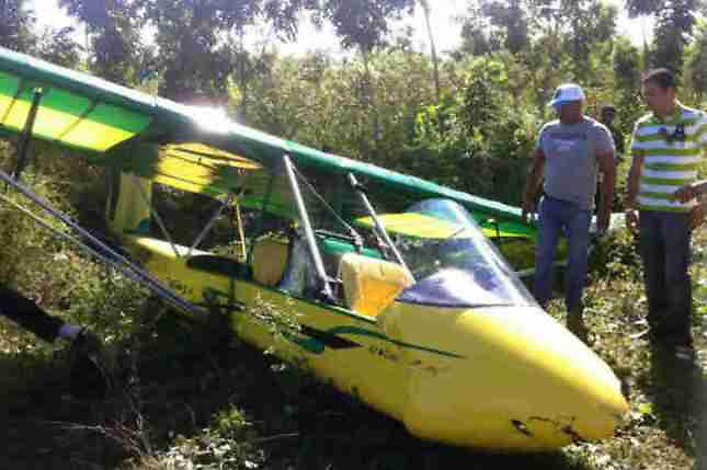 Aeronave se estrella en Cotuí resultando ilesos sus dos ocupantes