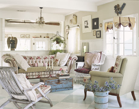 The bazzaro, Shabby Chic Living room. | Living Winsomely