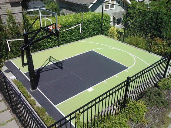 backyard basketball court ideas 26