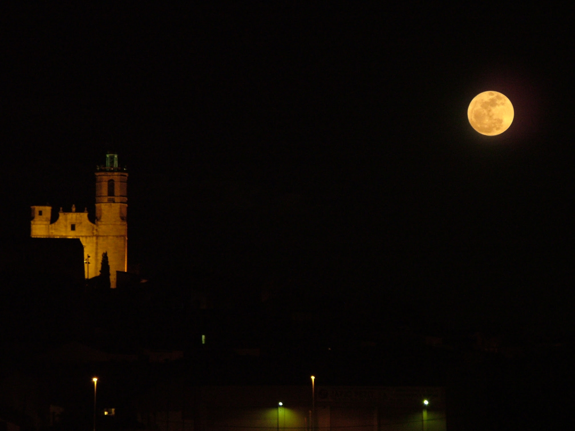 Súper Lluna des de Llagostera