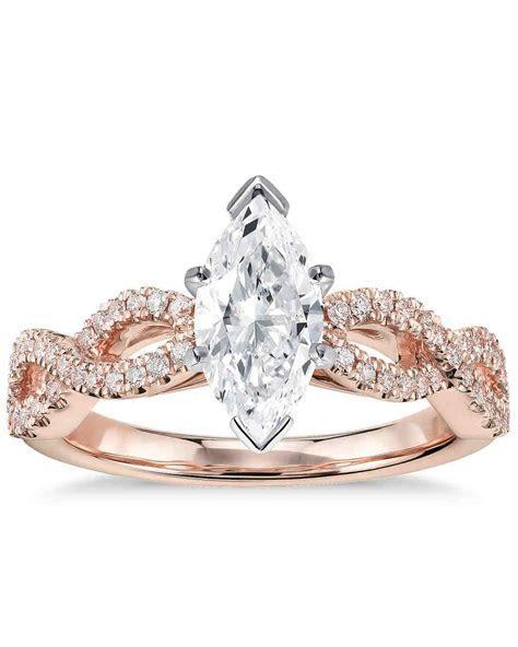 Marquise Cut Diamond Engagement Rings   Martha Stewart