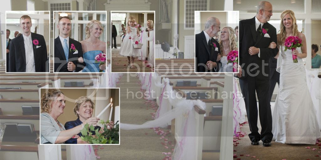 Walking down the Aisle Wedding Album Layout