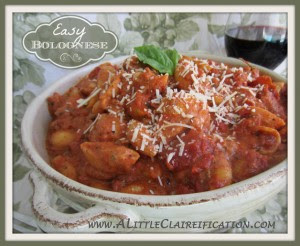Easy Weeknight Bolognese Recipe by A Little Claireification #pasta #dinner