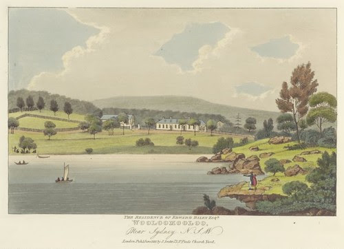 The residence of Edward Riley, Esq., Wooloomooloo near Sydney, N.S.W 1825 (Joseph Lycett)