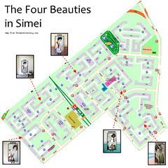 Four Beauties Map