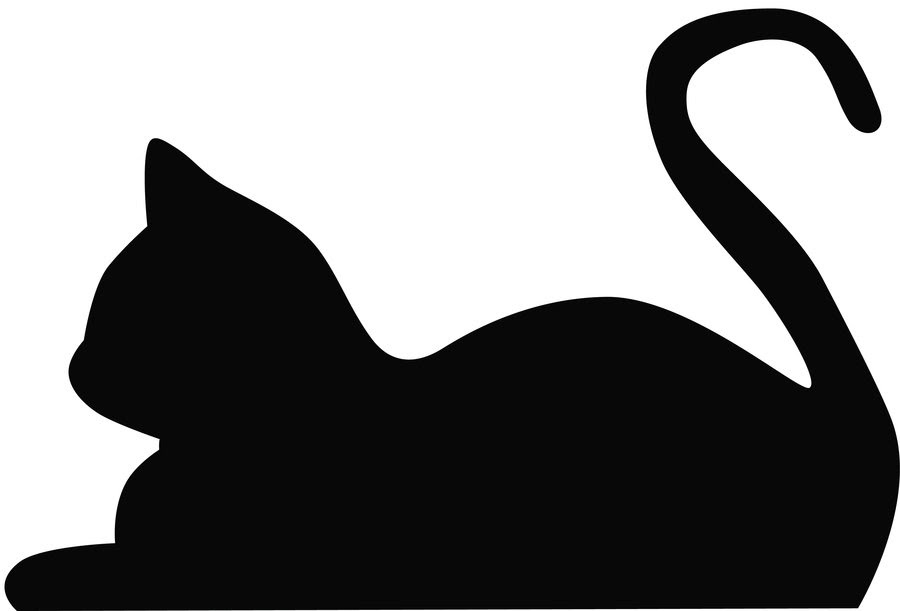 Download Free Sleeping Cat Silhouette, Download Free Clip Art, Free ...