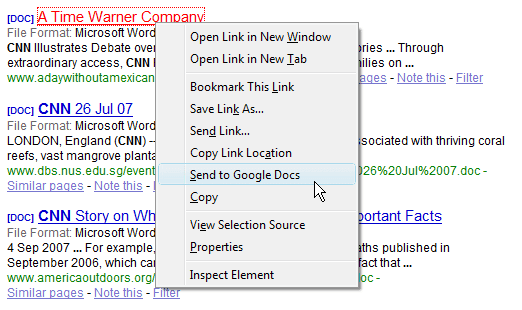 open PDF documents with Google Docs