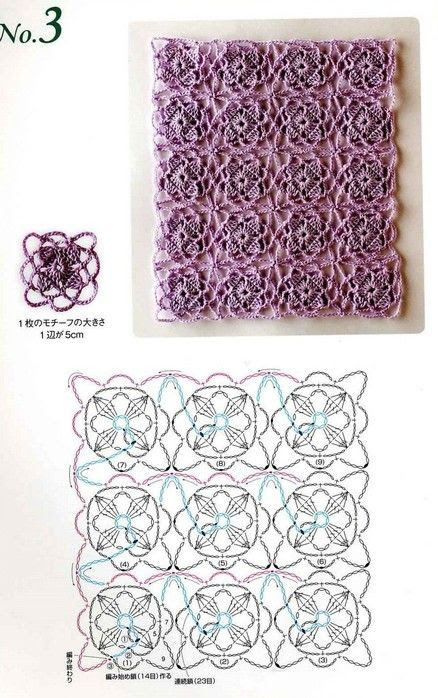 crochet motifs continuously