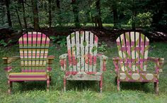 Adirondack chairs! SO CUTE!