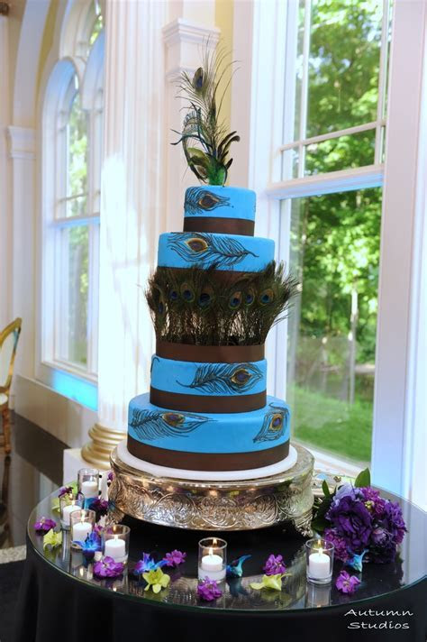 17 Best images about Peacock Wedding Cakes on Pinterest