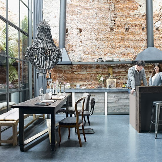 Kitchen-diner | Take a tour around a raw materials home in Amsterdam | House tour | Livingetc | PHOTO GALLERY