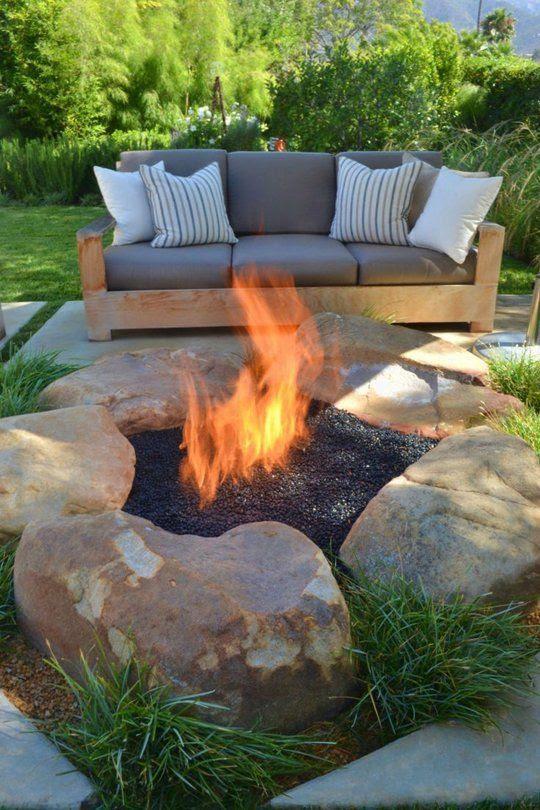 Backyard fire pit ideas diy