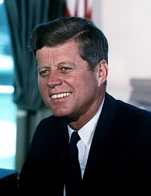 John F. Kennedy, photograph in the Oval Office.