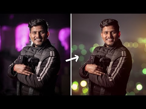 Best way to use blur tools to make  Background change in Photoshop Hindi...