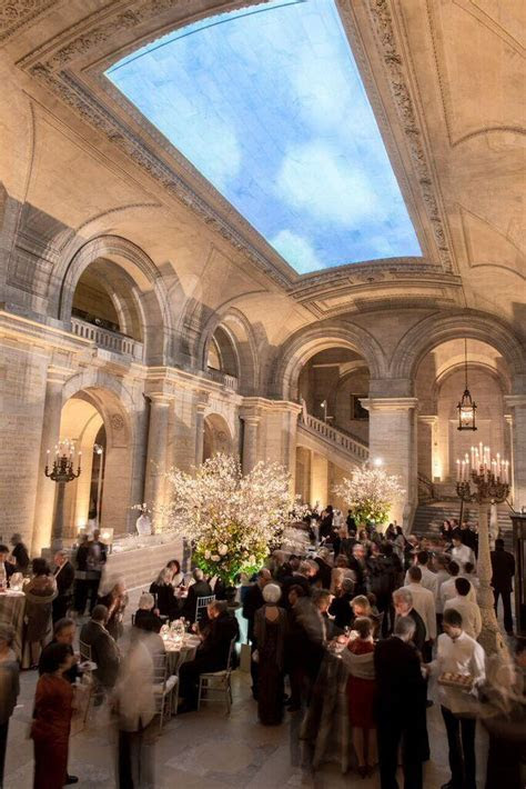 New York Wedding: Public Library Transformed into Garden